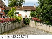 town gate womans gate / Frauentor, Schongau, Upper-Bavaria, Bavaria, Germany, Europe. Стоковое фото, фотограф Peter Schickert / age Fotostock / Фотобанк Лори