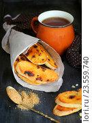 Оранжевые бискотти с шоколадом. Стоковое фото, фотограф Оксана Голева / Фотобанк Лори