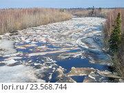 Купить «Ледоход на реке», фото № 23568744, снято 28 апреля 2016 г. (c) Икан Леонид / Фотобанк Лори