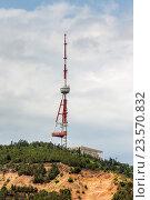 Телевизионная башня на горе Мтацминда. Тбилиси, Грузия. Стоковое фото, фотограф Koba Samurkasov / Фотобанк Лори