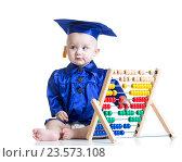 Kid boy with counter toy. Стоковое фото, фотограф Оксана Кузьмина / Фотобанк Лори