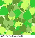Купить «Бесшовный фон из листьев березы», иллюстрация № 23573628 (c) Юрий Жеребцов / Фотобанк Лори