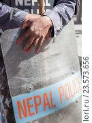 Полиция. Катманду. Непал. (2012 год). Стоковое фото, фотограф Василий Вострухин / Фотобанк Лори