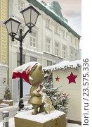 Рождественские украшения на улице (2016 год). Редакционное фото, фотограф Светлана Булычева / Фотобанк Лори