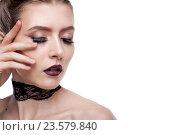 Портрет девушки с творческим макияжем. Стоковое фото, фотограф Вячеслав Чернявский / Фотобанк Лори