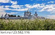 Купить «Панорама Никитского монастыря, Переславль-Залесский», фото № 23582116, снято 9 июля 2013 г. (c) Наталья Волкова / Фотобанк Лори