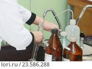 Пробы воды. Стоковое фото, фотограф Хацаюк Павел Павлович / Фотобанк Лори