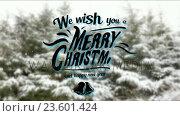 Купить «Illustration of christmas greeting and new year message», видеоролик № 23601424, снято 22 мая 2019 г. (c) Wavebreak Media / Фотобанк Лори