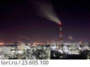 Купить «Japan, Sanyo Region, Okayama Prefecture, Kurashiki-shi, Mizushima, View of gas industry at night.», фото № 23605100, снято 20 сентября 2018 г. (c) age Fotostock / Фотобанк Лори