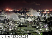 Купить «Japan, Sanyo Region, Okayama Prefecture, Kurashiki-shi, Mizushima, View of gas industry at night.», фото № 23605224, снято 20 сентября 2018 г. (c) age Fotostock / Фотобанк Лори