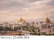 Купить «Asia, Turkmenistan, Ashgabat, View of presidential mansion.», фото № 23606064, снято 20 сентября 2018 г. (c) age Fotostock / Фотобанк Лори