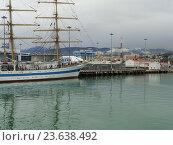 Купить «Парусный корабль Мир у причала в морском порту Сочи», фото № 23638492, снято 22 сентября 2016 г. (c) DiS / Фотобанк Лори