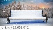 Composite image of bench covered with snow, иллюстрация № 23658012 (c) Wavebreak Media / Фотобанк Лори