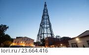 Купить «Шуховская башня в Москве, Россия», фото № 23664416, снято 26 июня 2016 г. (c) Владимир Журавлев / Фотобанк Лори