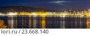Panorama of Donistia. Basque Country, Spain. Стоковое фото, фотограф Яков Филимонов / Фотобанк Лори