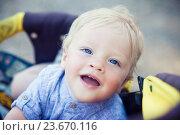 Купить «Happy little boy», фото № 23670116, снято 19 июня 2016 г. (c) Вероника Галкина / Фотобанк Лори
