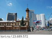 Купить «Пожарная каланча в Сокольниках. Русаковская улица, 26. Москва», эксклюзивное фото № 23689572, снято 19 июня 2010 г. (c) lana1501 / Фотобанк Лори