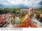 Купить «Замок Чески Крумлов», фото № 23694832, снято 9 мая 2014 г. (c) Вероника Галкина / Фотобанк Лори