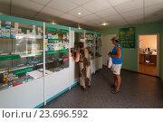 Купить «Интерьер аптеки», фото № 23696592, снято 18 августа 2016 г. (c) Акиньшин Владимир / Фотобанк Лори