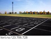 Стадион с беговыми дорожками. Стоковое фото, фотограф Андрей Силивончик / Фотобанк Лори