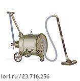 Купить «Старый пылесос на колесах», иллюстрация № 23716256 (c) Дмитрий Никитин / Фотобанк Лори