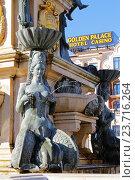 Фрагмент фонтана Нептуна на театральной площади в городе Батуми, Грузия (2016 год). Редакционное фото, фотограф Артём Крылов / Фотобанк Лори