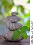 Купить «Пирамидка из камней», фото № 23722964, снято 2 сентября 2015 г. (c) Iordache Magdalena / Фотобанк Лори