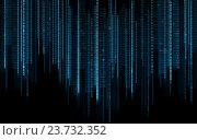 Купить «black blue binary system code background», иллюстрация № 23732352 (c) Syda Productions / Фотобанк Лори