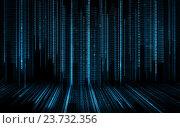Купить «black blue binary system code background», иллюстрация № 23732356 (c) Syda Productions / Фотобанк Лори