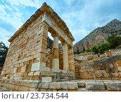 Купить «Excavations of the ancient Delphi city (Greece)», фото № 23734544, снято 7 июня 2014 г. (c) Юрий Брыкайло / Фотобанк Лори