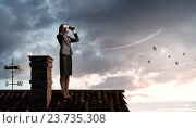 Купить «She is looking forward . Mixed media», фото № 23735308, снято 7 июля 2012 г. (c) Sergey Nivens / Фотобанк Лори