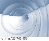Купить «Vortex tunnel interior, light blue toned 3d», иллюстрация № 23763456 (c) EugeneSergeev / Фотобанк Лори