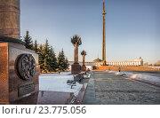 Купить «На Поклонной горе, Москва», фото № 23775056, снято 8 февраля 2016 г. (c) Baturina Yuliya / Фотобанк Лори