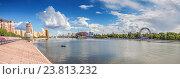 Купить «Астана, набережная реки Ишим», эксклюзивное фото № 23813232, снято 3 июля 2016 г. (c) Николай Сивенков / Фотобанк Лори
