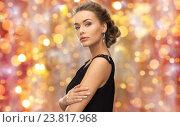 Купить «beautiful woman with gem stone earrings», фото № 23817968, снято 17 марта 2013 г. (c) Syda Productions / Фотобанк Лори