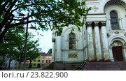 Купить «St. Michael Archangel's Church, Kaunas, Lithuania», видеоролик № 23822900, снято 30 сентября 2016 г. (c) BestPhotoStudio / Фотобанк Лори