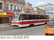 Купить «Городской трамвай. Самара», фото № 23825472, снято 24 сентября 2016 г. (c) Алексей Сварцов / Фотобанк Лори