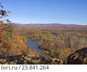 Купить «Вид долины реки Уссури», фото № 23841264, снято 13 октября 2012 г. (c) Олег Рубик / Фотобанк Лори