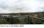 Купить «Веранда в кафе с панорамным видом на побережье», видеоролик № 23842420, снято 18 октября 2016 г. (c) Потийко Сергей / Фотобанк Лори