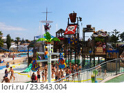 Laberint Pitara attraction at Illa Fantasia Water Park (2014 год). Редакционное фото, фотограф Яков Филимонов / Фотобанк Лори