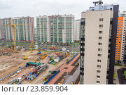 Санкт-Петербург. Вид сверху на новые дома в поселке Мурино. Редакционное фото, фотограф Артем Блинов / Фотобанк Лори