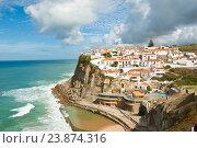 Купить «Вид на город Azenhas do Mar солнечным днем. Португалия», фото № 23874316, снято 15 октября 2016 г. (c) Екатерина Овсянникова / Фотобанк Лори