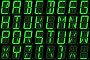 Цифровой шрифт из прописных букв на светодиодном дисплее, иллюстрация № 23901940 (c) Горбунов Владимир / Фотобанк Лори
