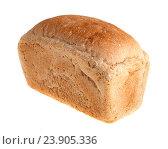 Купить «Буханка белого хлеба, изолированно на белом фоне», фото № 23905336, снято 7 августа 2016 г. (c) Литвяк Игорь / Фотобанк Лори