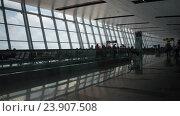 Купить «Timelapse shot of Noi Bai International Airport», видеоролик № 23907508, снято 27 октября 2015 г. (c) Данил Руденко / Фотобанк Лори