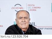 Купить «The director Bernardo Bertolucci during the phototocall at 11th Rome Film Festival, Rome, ITALY-15-10-2016.», фото № 23926704, снято 15 октября 2016 г. (c) age Fotostock / Фотобанк Лори