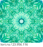 Мандала в зелено-синих тонах. Стоковое фото, фотограф Екатерина Кулаева / Фотобанк Лори