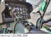 """Купить «Международный военно-технический форум """"Армия-2016"""". Ансат - легкий многоцелевой вертолет. Кабина пилота», фото № 23996364, снято 6 сентября 2016 г. (c) Игорь Долгов / Фотобанк Лори"""