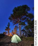 Лагерь под звездами. Стоковое фото, фотограф Михаил Зверев / Фотобанк Лори