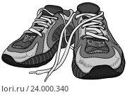 Пара кроссовок. Стоковая иллюстрация, иллюстратор Aqua / Фотобанк Лори